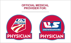 Official Sports Medicine Provider For: U.S. Ski Team & U.S. Snowboarding